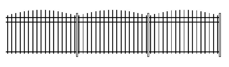 заборы из трубы профильной фото